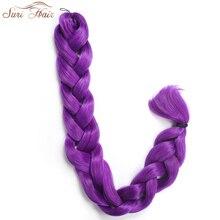 Suri Hair 82″ 165g Jumbo Braid Crochet Hair Extensions Synthetic Braiding Hair Bulk 7 Colors Avalible