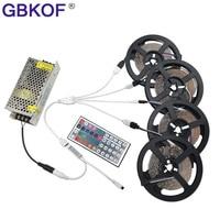 Non Waterproof RGB LED Stripe 15m 20m 3528 Set Include 44keys IR Controller DC 12V Power