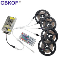 Non waterproof RGB LED Stripe 15m 20m 3528 set include 44keys IR controller +DC 12V power supply 60LEDs/M tiras led diode lamps