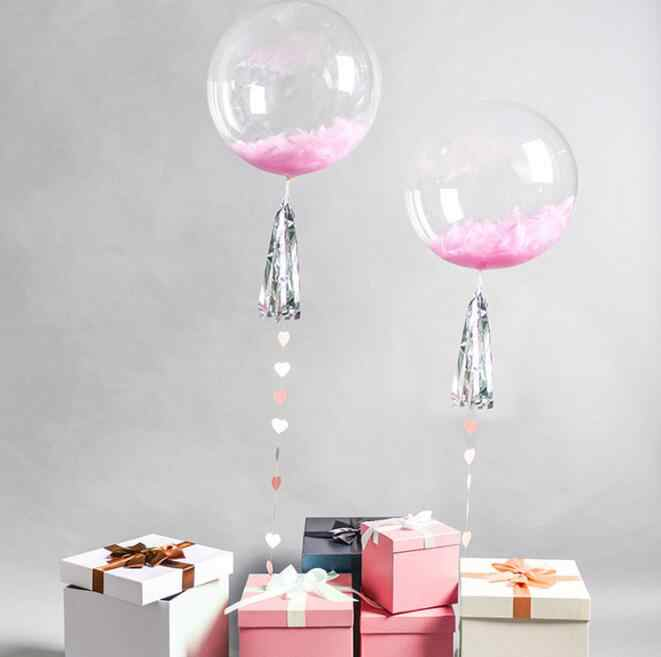 18/24 inch No Wrinkle Bobo Transparent Clear Balloons Marriage Wedding Decoration Helium Inflatable Balls Gifts Bubble Balloons
