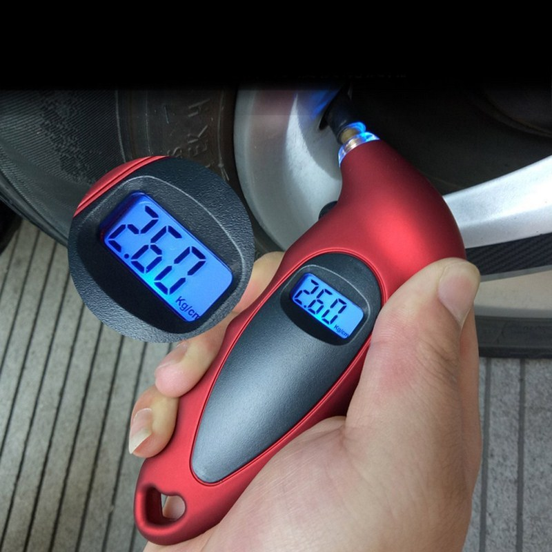 Digital Tire Pressure Gauge LCD Backlight Auto Car Motorcycle Tire Gauge Air Tire Gauge monitor Barometer Tyre Tester Meter air pressure gauge 0 300 psi 0 16 bar with inflating gun fit for auto car motorcycle bicycle type measure meter 6007