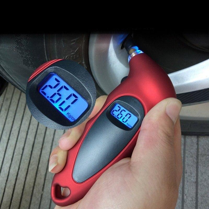 LCD Digital Tire Pressure Gauge Backlight Auto Car Motorcycle Tire Gauge Air Tire Gauge Monitor Barometer Tyre Tester Meter