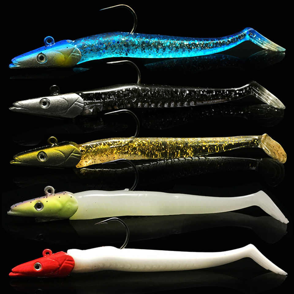 1Pcs 11cm 22g Jig Fish Head Sinking Fishing Lure Fresh Salt Water Natural Live Vivid Body Jigging Soft Bait