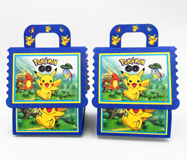 6PCS LOT NEW POKEMON GO CANDY BOXES KIDS BIRTHDAY PARTY FAVORS BABY SHOWER PIKACHU