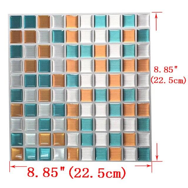 Schälen Und Stick Wandfliese Mosaik 3D Klebstoff Wandfliesen Aufkleber Bad  Wand Küche Backsplash Harz Aufkleber Wand