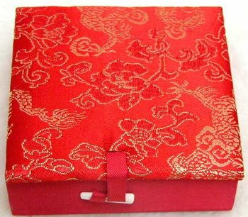 Beautiful! One Box Multi Purpose China Silk Jewelry Gift Boxes -box07 WHOLESALE/retail Free shipping