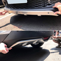 Stainless Steel Accessories Exterior Front Rear Skid Plate Bumper Board 2pcs Fit For Toyota C HR
