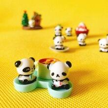 1Pcs/cute panda/miniatures/lovely cute figurine/fairy garden gnome/moss terrarium decor/crafts/bonsai/ DIY/m010