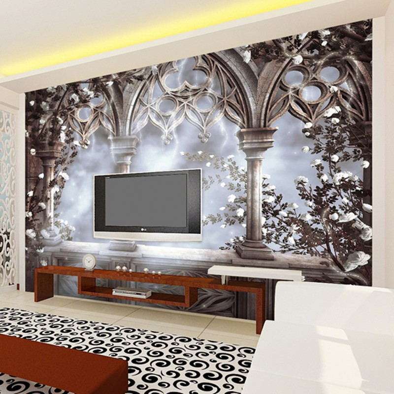 Beibehang Large Wallpaper Mural Custom Any Size Three: Beibehang Large 3d Stereo Custom Wallpaper European Retro