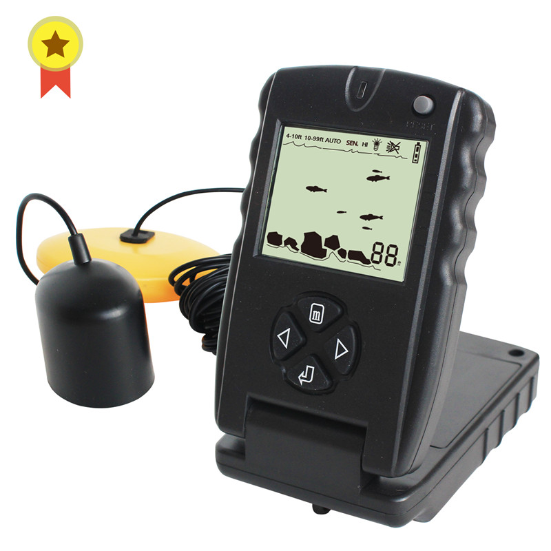 Russian Manual 100ft Portable Sonar Fish Finders Fishing lure Echo Sounder Fishing Finder FF717