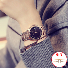 Nowa dama Top Luxury quality Marka GUOU Woman Pełna róża złota Business Zegarki Lady Zegarek kwarcowy Data Gift Dress Wrist Watch