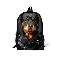 Children School Backpacks 3D Zoo Animal Bagpack For Teennager Boys Rottweiler Tiger Panda Print Backpack For