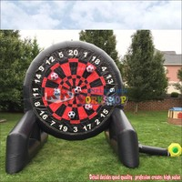 3.6m/12FT Inflatable Sticky Throwing Dart Carnival Game, Kids Inflatable Football Dart Board