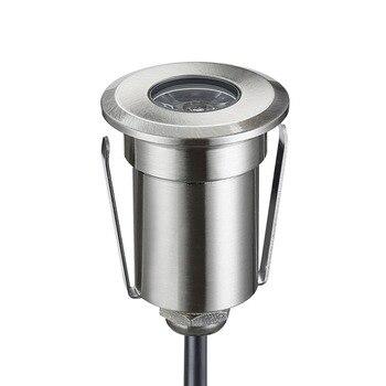 1.5-3 w Yüksek Güç 12 V Alçak Gerilim LED yerden Işık Decking Aydınlatma için 42mm Çap yuvarlak Şekli ile Gömme içine Monte