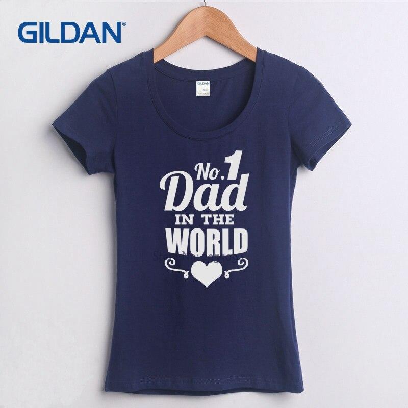 Fathers Day Worlds Best Dad Papa Birthday Gift Daddy Present Pappa 2018 Women T Shirts Black Shirt Fashion Tee
