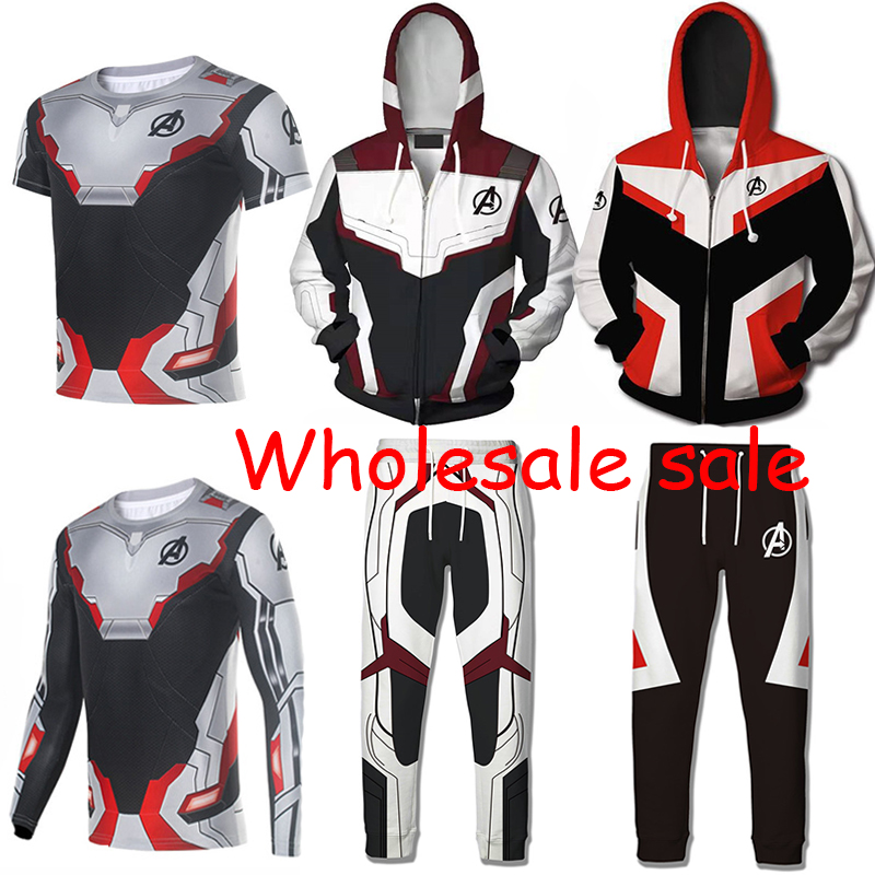 10 PCS LOT Avengers Endgame Quantum Realm Hoodie Sweatshirt Cosplay Costume Superhero Captain America Coat Jacket T shirt Pants-in Movie & TV costumes from Novelty & Special Use    1