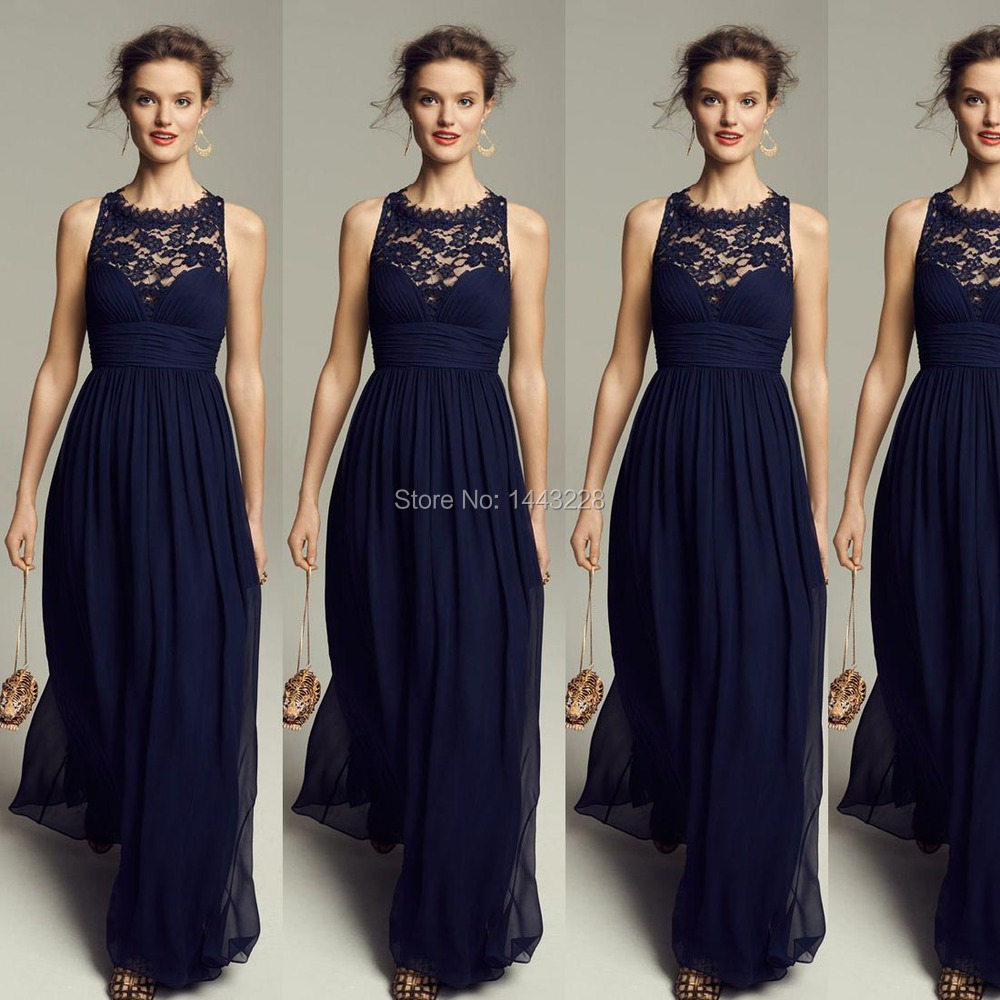 Long Navy Blue Bridesmaid Dresses - Wedding Dress Ideas