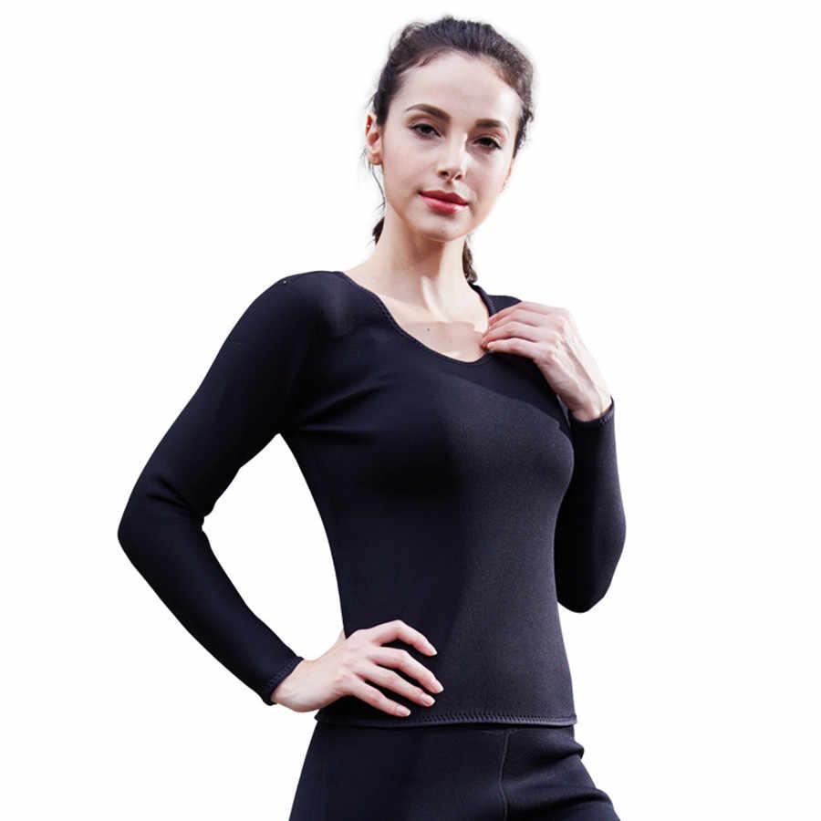 Женский корсет для похудения с длинным рукавом для тела, топы, Неопреновая сауна, Спортивная рубашка, тренажер талии, эластичный корсет, фитнес-формы