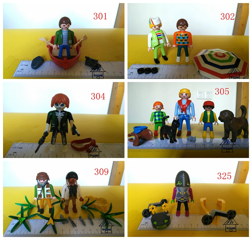 multi style pretend toy of playmobil Action Figures ET boat happy family Sun umbrella fighter gun mini figure child toys gift