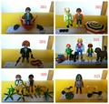 multi style pretend toy of playmobil Action Figures ET boat happy family Sun umbrella fighter gun mini figure child toys gift
