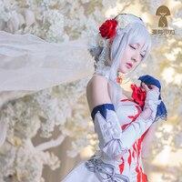 Anime!SINoALICE Snow White Monk White Women Uniforms Cosplay Costume Free Shipping+Headwear