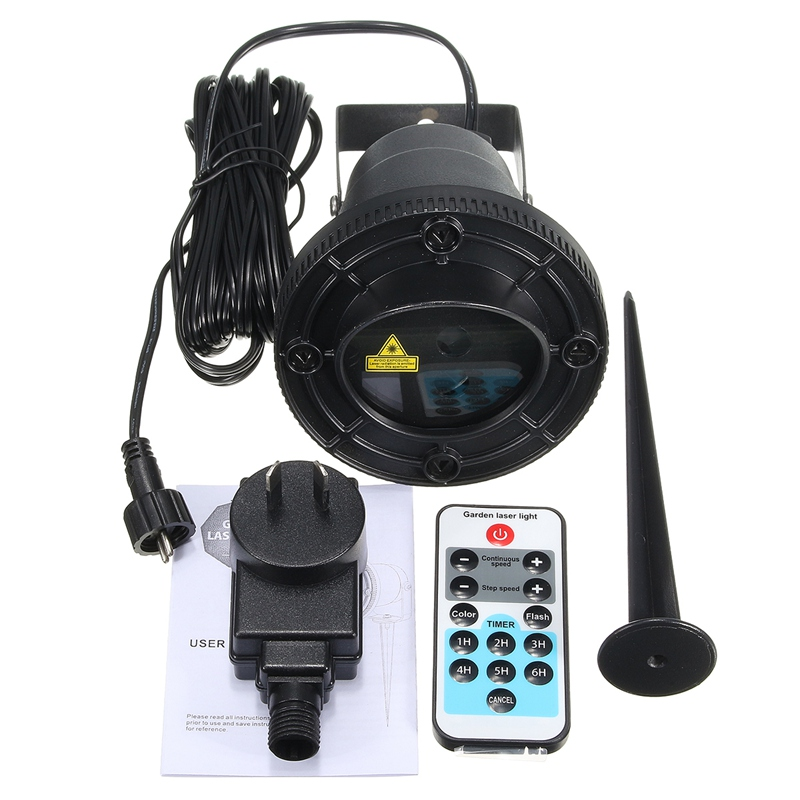 ФОТО 8 Patterns Waterproof Landscape Light Laser Outdoor Lighting Projector Decorative Lamp RF Remote Control
