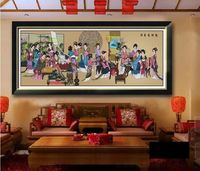 Китайский красоты наборы вышивки крестиком хлопок DMC для вышивки людей живопись картина DIY ручной работы набор для шитья стены домашнего де
