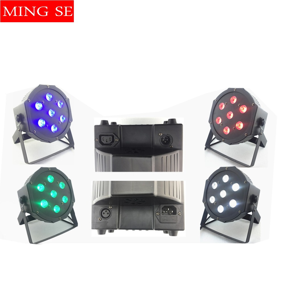 7pcs 10w lamp beads 7x10W led Par lights RGBW 4in1 flat par led dmx512 disco lights professional stage dj equipment7pcs 10w lamp beads 7x10W led Par lights RGBW 4in1 flat par led dmx512 disco lights professional stage dj equipment