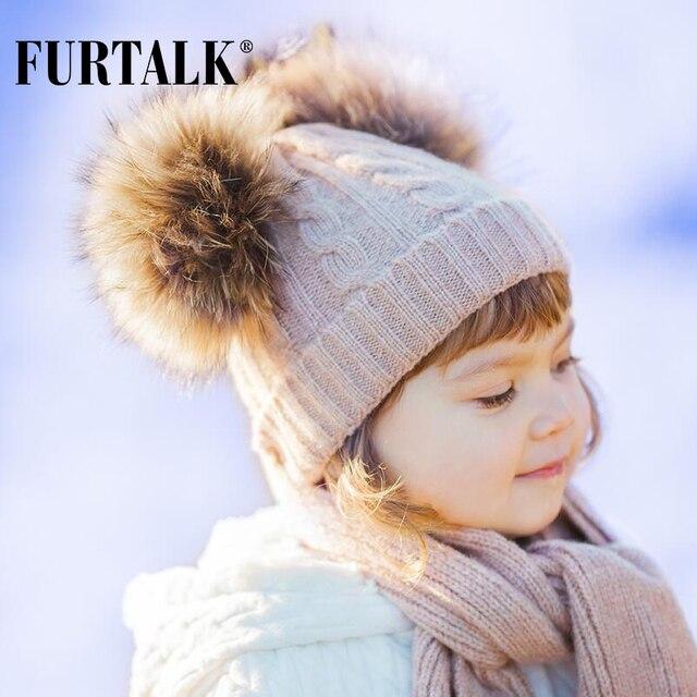 FURTALK crianças lã inverno chapéu cachecol conjuntos 2-5 anos de menina e  menino verdadeira 8574dc16a40