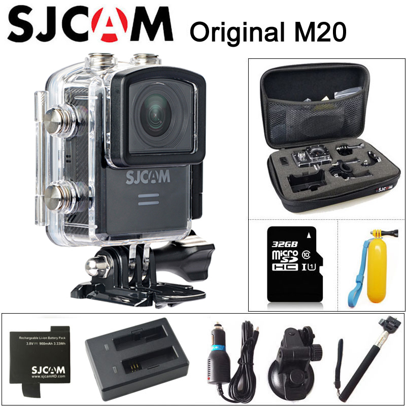 цена на Original SJCAM M20 Sport Action Camera 4K Wifi SJ Cam Underwater Gyro Mini Camcorder 2160P HD 16MP With RAW Format Waterproof DV
