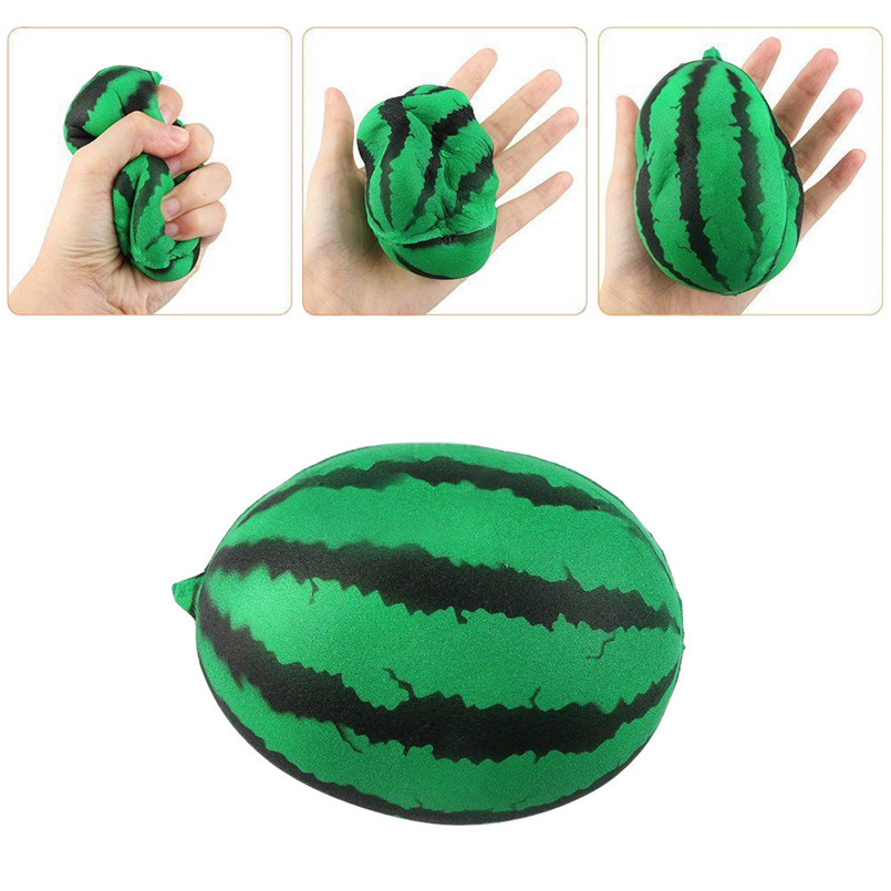 Soft Artificial Watermelon Soothing Stress Toy For Home Decoration 1pc Lifelike Fruit barato adornos para cocina 40JULY09(China)