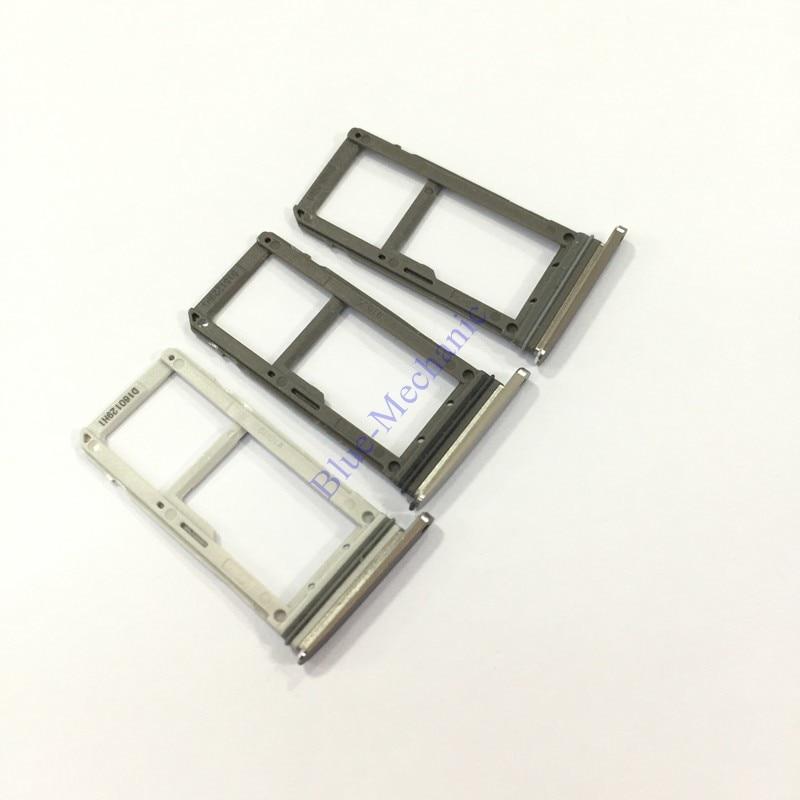 Original Dual SIM Holder Sim Tray For Samsung Galaxy S7 G9300 G930V G930A SM-G930F Nano SIM 1/2 Micro SD Card