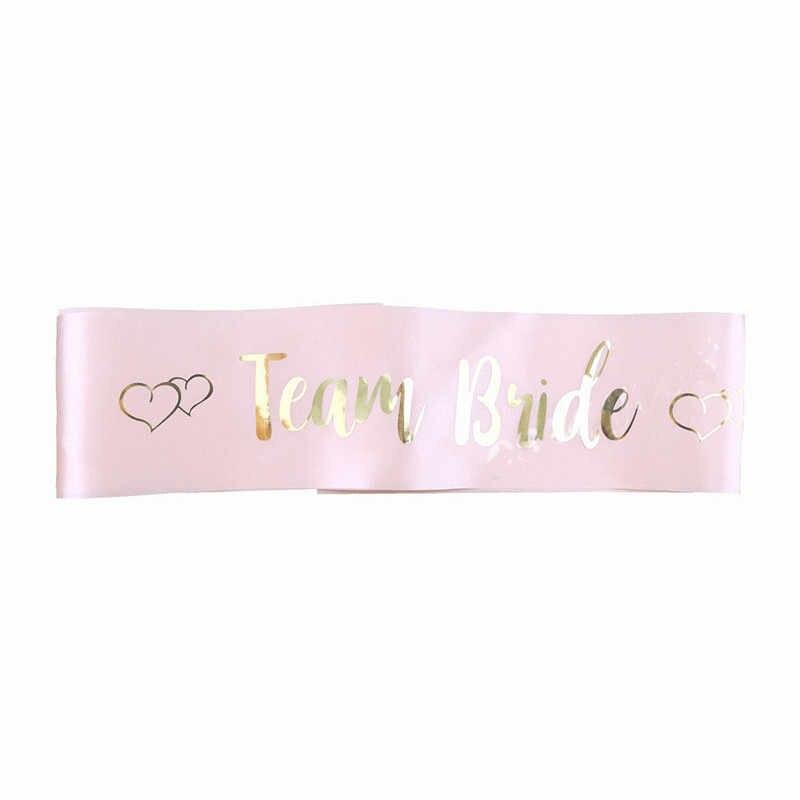 الوردي الساخن ختم العروس آداب مع العروس ليكون وشاح البكالوريوس حزب وصيفه الشرف فريق العروس حزام الكتف فتاة جميلة سحر