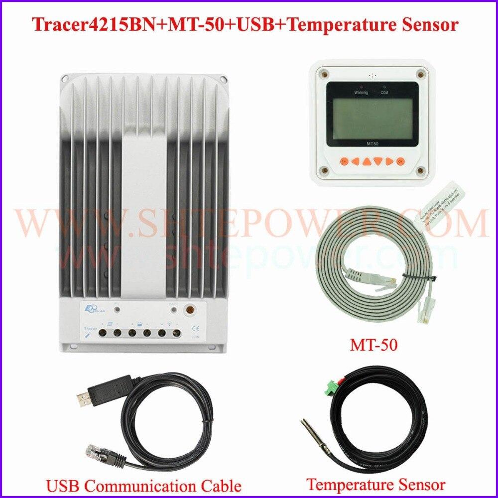 EPEVER EPsolar Nouveau Traceur 4215BN MPPT 40A solaire contrôleur 150 v y compris MT50 USB et câble Du Capteur