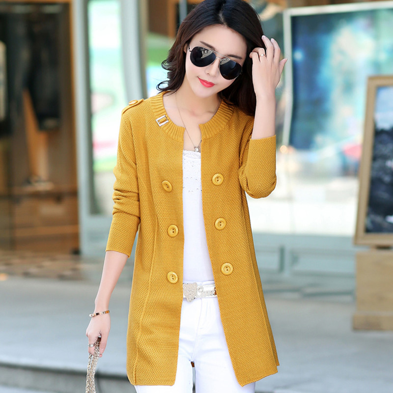Online Shop Korean version of the new fall Ms. long cardigan ...