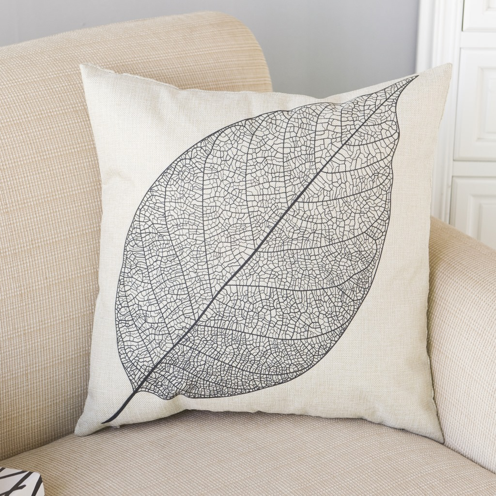 Decorative Throw Pillows Cover Modern Simple Pillow Popper Geometry Plant Noble Trees Leaf Cotton Linen Sofa Cushion Cover 1pcs