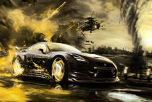 Awesome super racing sports Car in  KB820 living room home wall modern art decor wood frame fabric posters prints