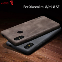 X-Level PU Leather Case For Xiaomi Mi 8 lite Mi8 Cases Soft Touch Ultra Slim Business Back Cover Coque For Xiaomi Mi 8 SE