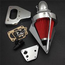 For 02-09 Honda VTX 1800 VTX1800 R S C N F Motorcycle Air Cleaner Kit Intake Filter Chrome 2002 2003 2004 2005 2006 2007 full set front rear brake discs rotors for honda vtx 1800 c f n r s t 02 03 04 05 06 07 08 09 10 11 2011 2010 2009 2008 2007 new