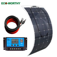 Solar Panel 160W flexible solar panel 20A LCD controller for RV Home Boat Camp