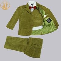 Nimble Boys Suits for Weddings Kids Blazer Green Boys Prom Suits Children's Blazer Suit for Boy Jogging Garcon 3 Pcs/set