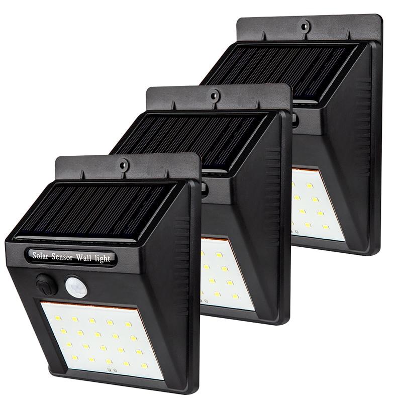 Led Solar Power Motion Sensor Garden Security Lamp