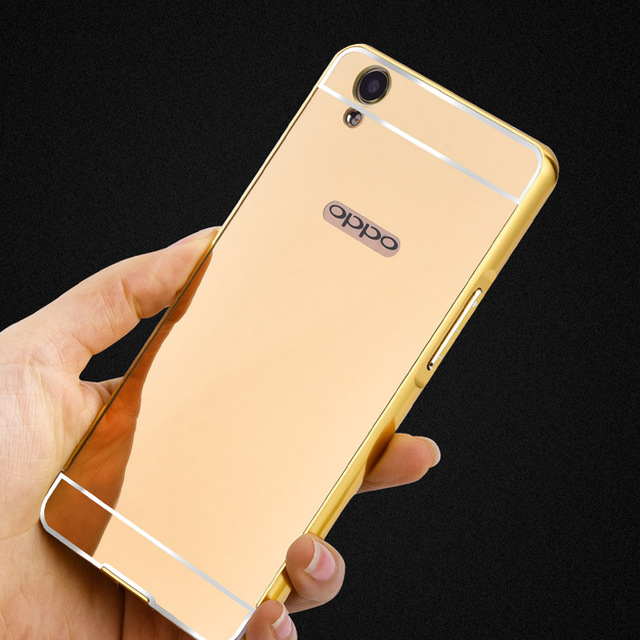 finest selection dacea 12048 US $3.72 |Luxury Aluminum Acrylic Mirror Case For OPPO A37 Mobile Phone  Protective Back Cover For A37 Case Back Battery Protective Case-in Fitted  ...