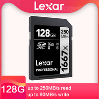 Lexar SD card 64G 128gb 256GB U3 V60 4K High Speed 250M/s SLR micro single camera memory card MLC particles SDXC UHS II sd card