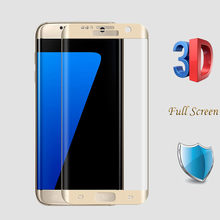 0.26mm Full Screen Tempered Glass For Samsung Galaxy S7 Edge Screen Protector 3D Curved Glass On For Samsung S8 S8 Plus Guard(China)