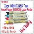 Para Xerox 6350 6350n 6350dn 6350DP 6350DT 6350DX impresora para Xerox 106R01076 106R01075 106R01074 106R01073 cartucho de tóner de Color