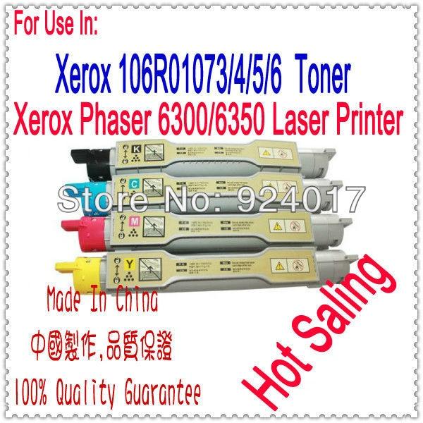 Reset Toner For Fuji Xerox Phaser 6350 Printer,Cartridge For Xerox 6350 6350DP 6350DT 6350DX Printer,For Xerox 106R01147/46/45/4 compatible color laser printer chip for xerox phaser 7100 toner reset chip for xerox 7100