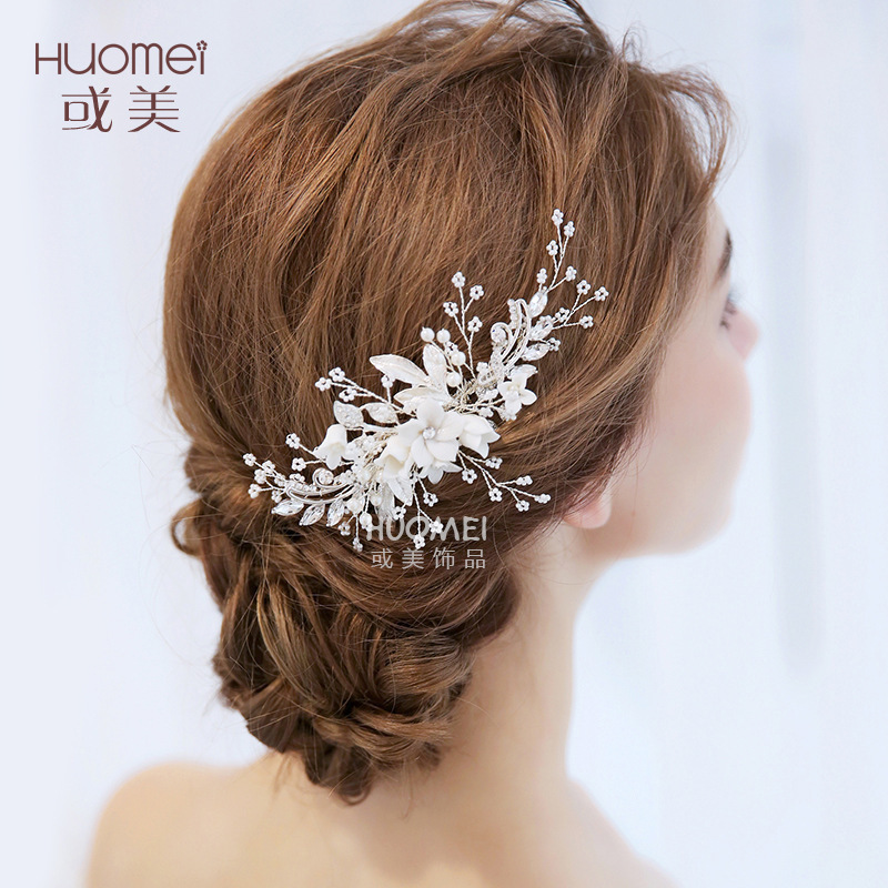 Beautiful Bride Headwear Wedding Dress Hair Comb New Pattern Marry Ornaments Gorgeous Bridal Accessories Elegant Hair Jewelry free shipping retail hair comb sinamay fascinator hats feather hair accessories wedding headwear 17 color are avaliable rmsf101