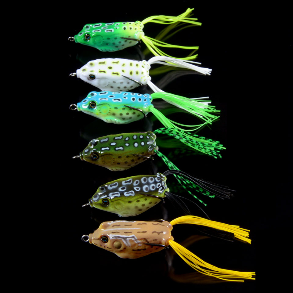New Arrival Fishing Lures 6pcs Set Soft Frog Bait 5.5cm/12.5g High Quality Fishing Tackle Swimbait  With Hooks y0018 wholesale ray frog sets playing blackfish bait lures bait floating frog bait fishing