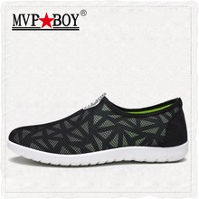 MVPBOY 2017 New Men Casual Shoes Summer Breathable Mesh Zapatillas For man Super Light Flats Shoes, Foot Wrapping Walking Shoes